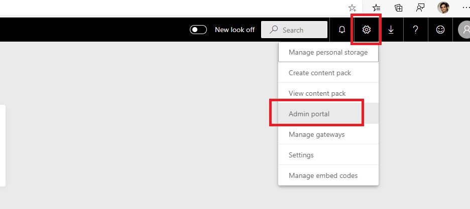 Embed PowerBI Report into SharePoint Step 1